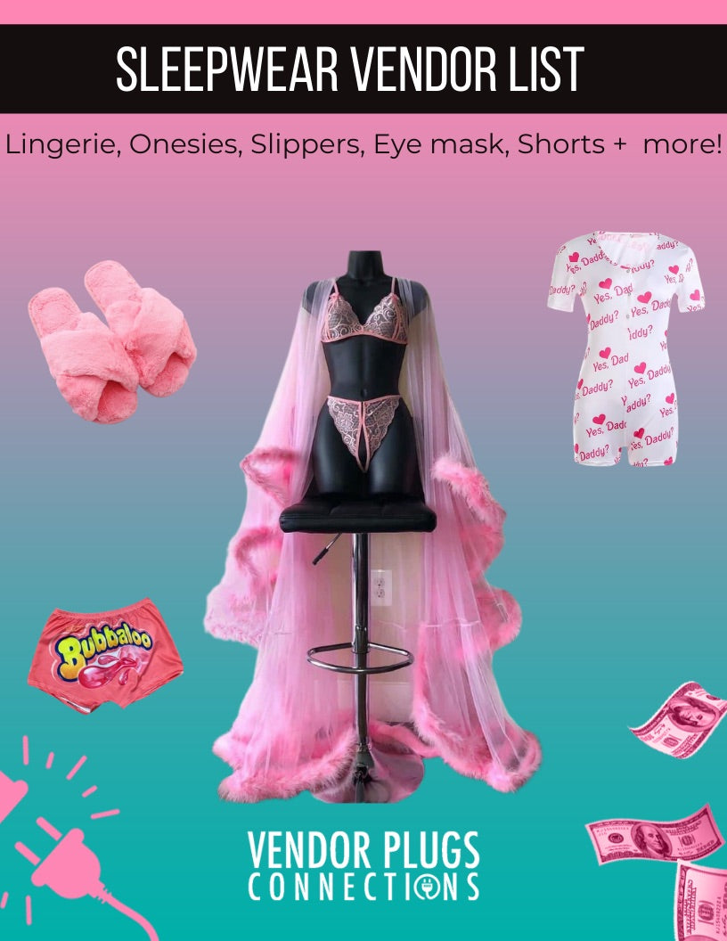 Sleepwear  Vendor List