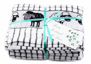 Poly-dri Jacquard Towel with Irish Sheep Design - Two Pack