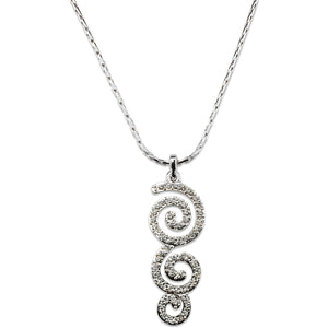 Celtic Triple Spiral Crystal Pendant