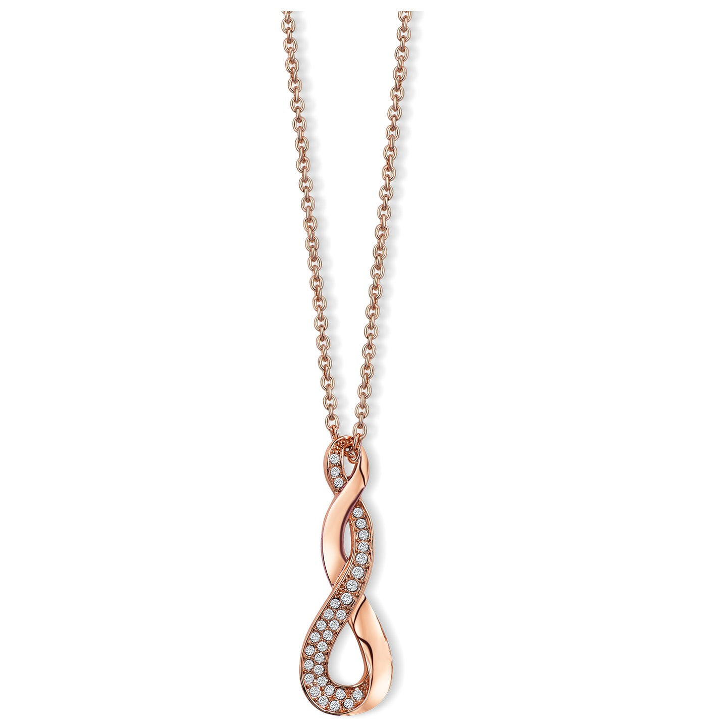 Celtic Twist Crystal Pendant Rose Gold