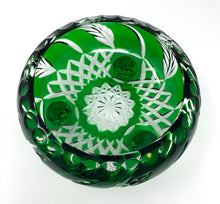 Load image into Gallery viewer, Emerald Green Wheat 3 Leg Bowl - One of a Kind