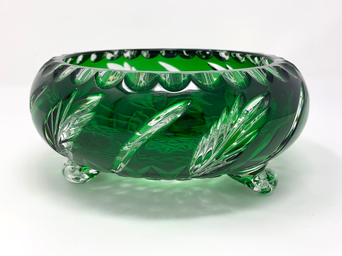 Emerald Green Wheat 3 Leg Bowl - One of a Kind
