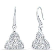 Load image into Gallery viewer, Trinity Knot Crystal Earrings