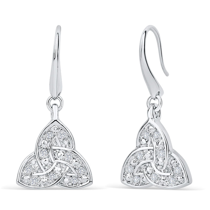 Trinity Knot Crystal Earrings