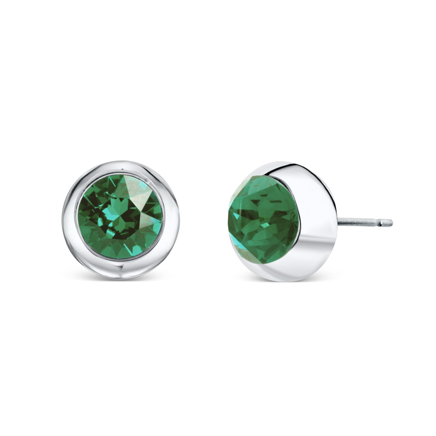 Solitaire Stud Earrings