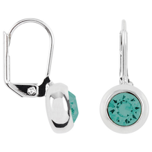 Load image into Gallery viewer, Solitaire Round Bezel Lever Back Earrings