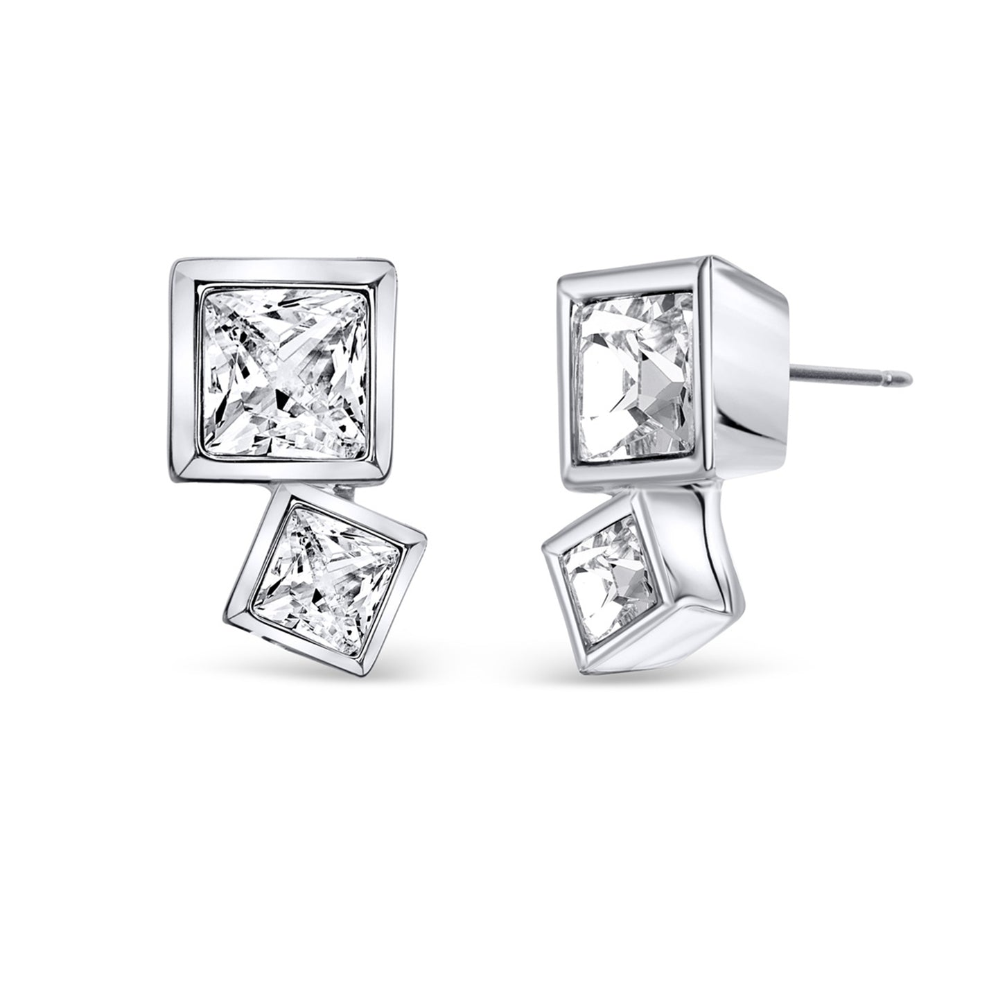 Art Deco Earrings - Square