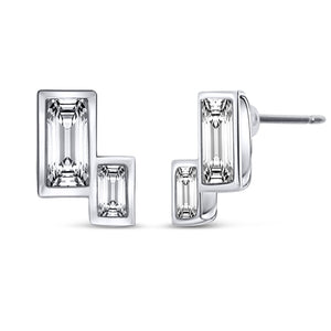 Art Deco Earrings - Rectangle
