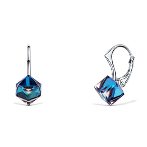 Cube Lever Back Earrings