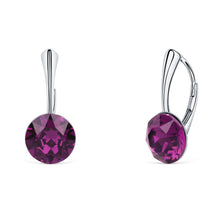 Load image into Gallery viewer, Solitaire Round Lever Back Earring