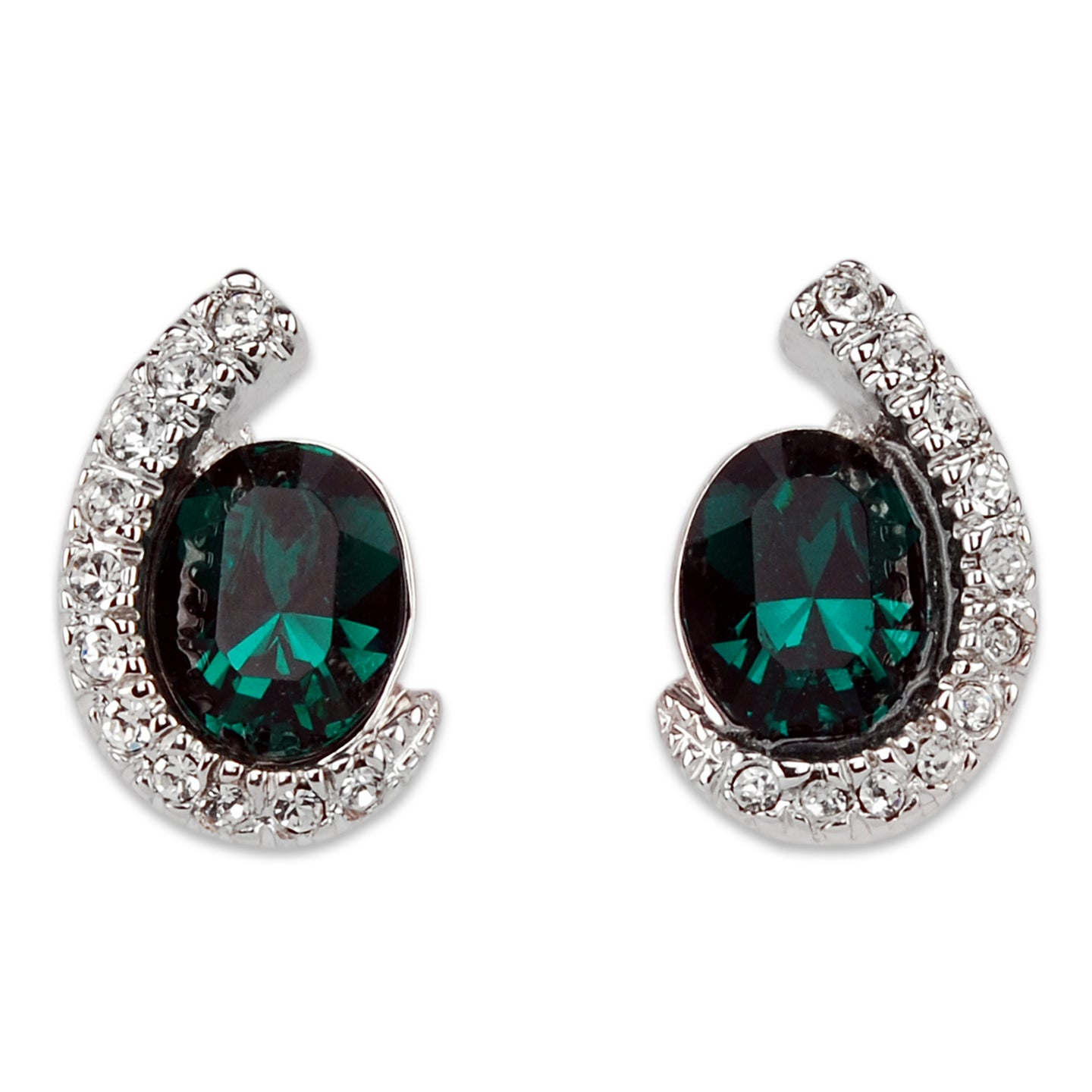 Emerald Elegance Crystal Earrings