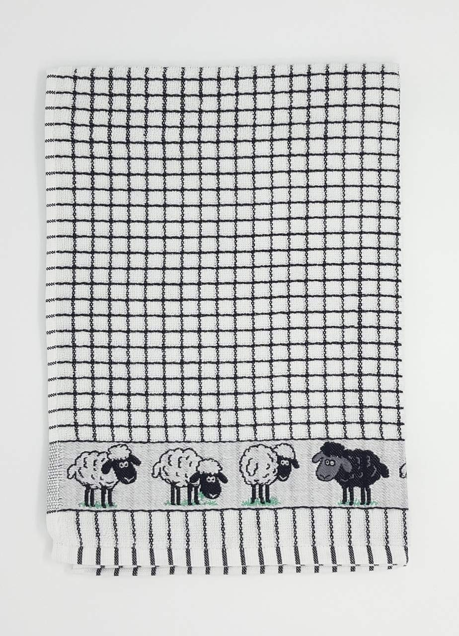 Poli Dry Tea Towel Irish Sheep Design