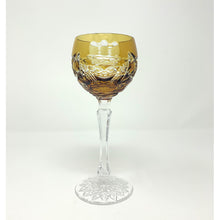 Load image into Gallery viewer, Amber Claddagh Wine Goblet
