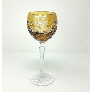 Amber Claddagh Wine Goblet