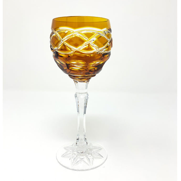 Amber Old Celtic Small Wine Glass