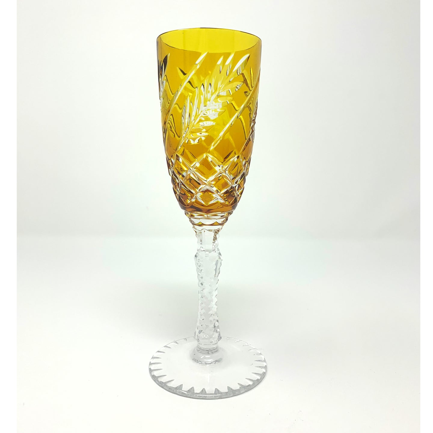 Wheat Amber Flute Champagne Glass