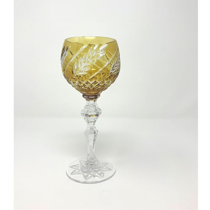 Amber Wheat Hock Wine Glass