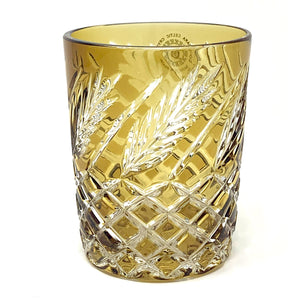 Amber Wheat Crystal Whiskey Glass
