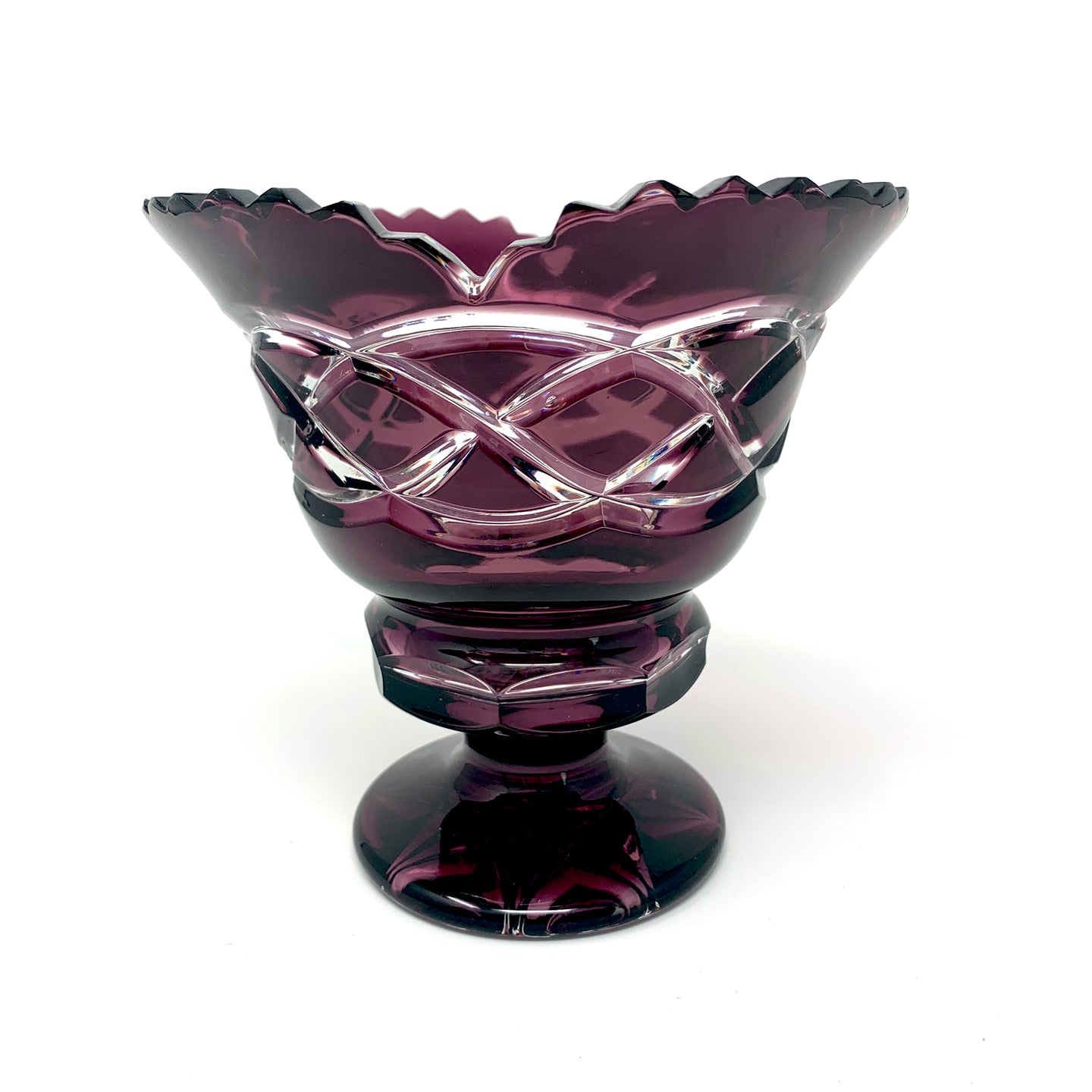Amethyst Footed Centrepiece with Old Celtic Design