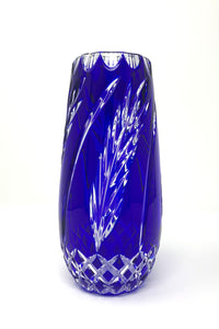Blue Wheat Vase