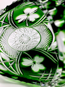 New Green Crystal Shamrock Basket