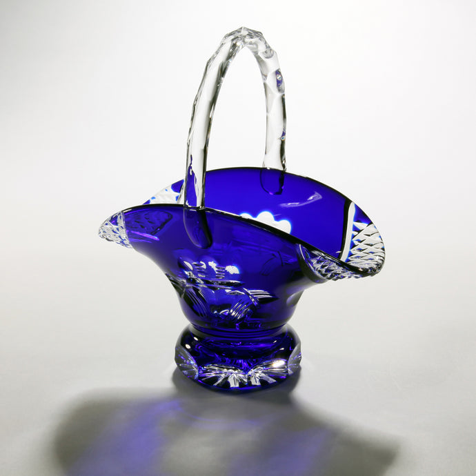 Claddagh Blue Crystal Wedding Basket