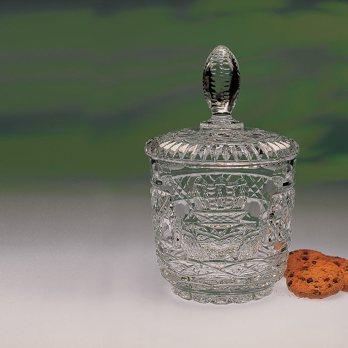 Claddagh Crystal Cookie Jar