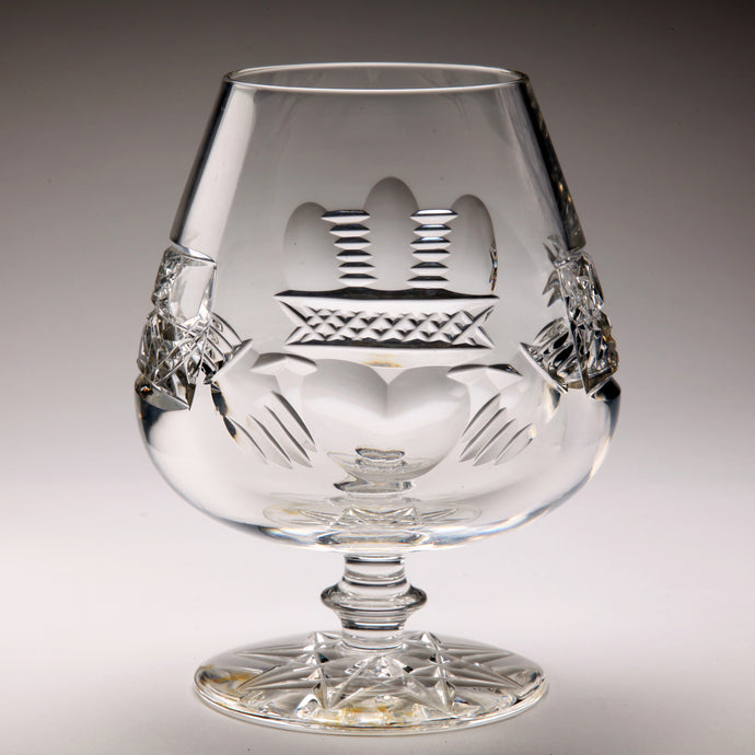 Claddagh Brandy Glass - Large