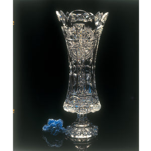 Celtic Cross Crystal Altar Vase
