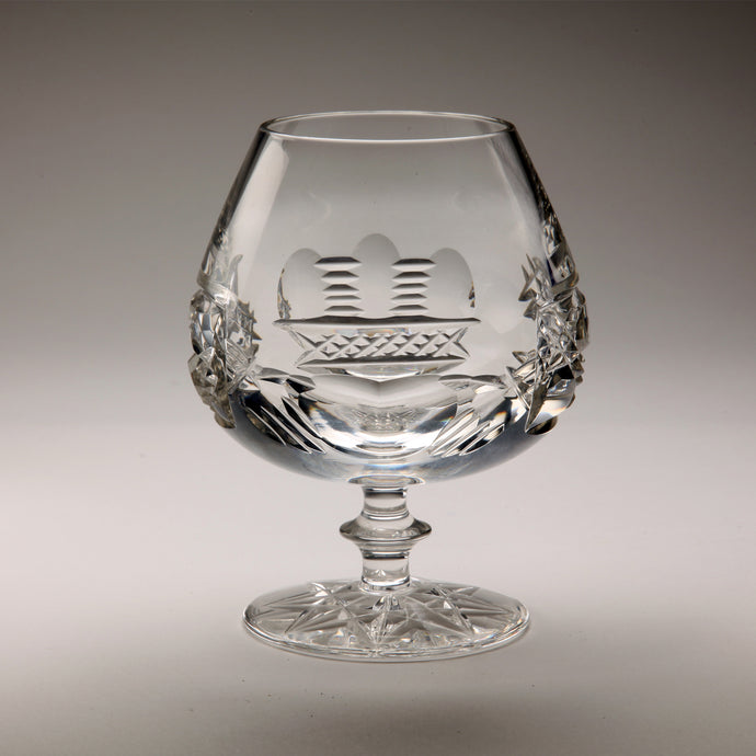 Claddagh Brandy Glass