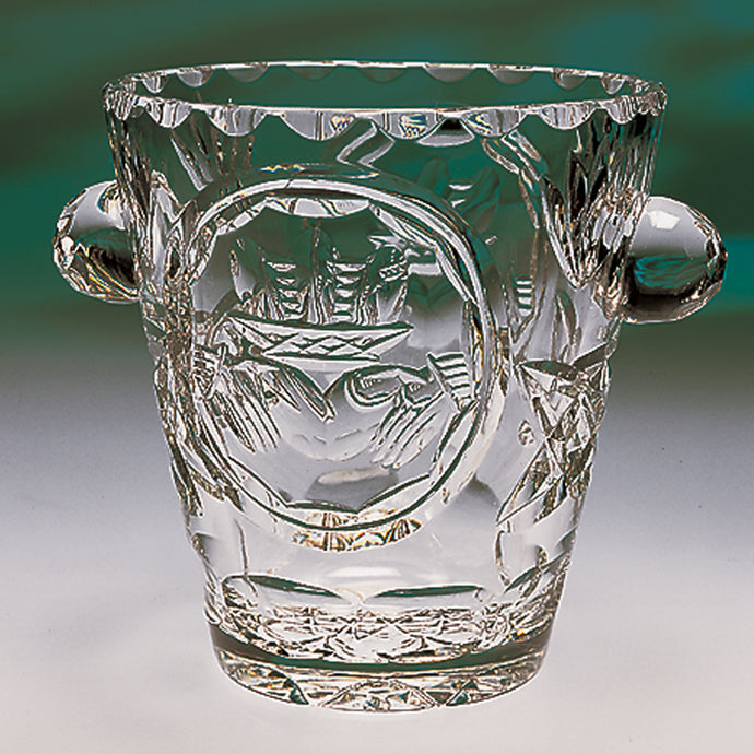 Claddagh Crystal Ice Bucket