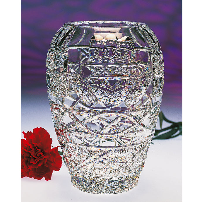 Claddagh Pear-shaped Crystal Vase