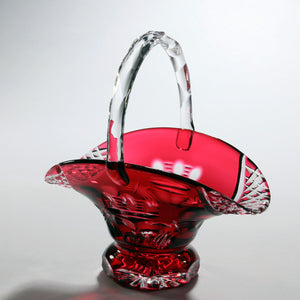 Red Claddagh Crystal Wedding Basket