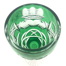 Load image into Gallery viewer, Emerald Green Claddagh Champagne Glass