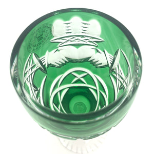 Emerald Green Claddagh Champagne Glass