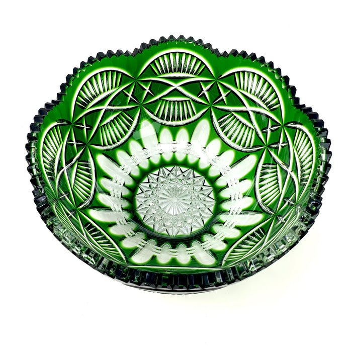 Emerald Mise Eire Scalloped Fruit Bowl