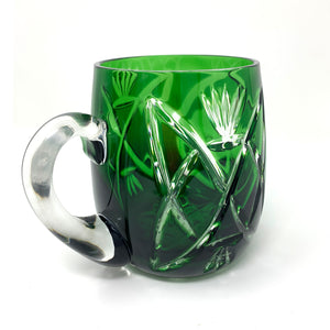 Emerald Green Shamrock Beer Mug