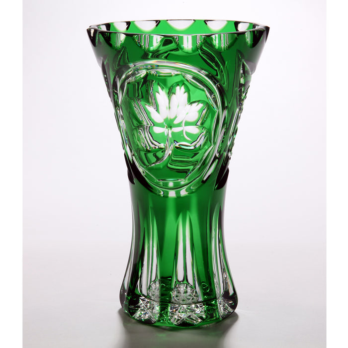 Green Crystal Shamrock Vase