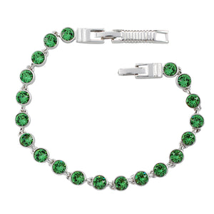 Erinite Green Crystal Tennis Bracelet (Small)