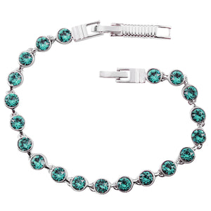 Turquoise Crystal Tennis Bracelet (Small)
