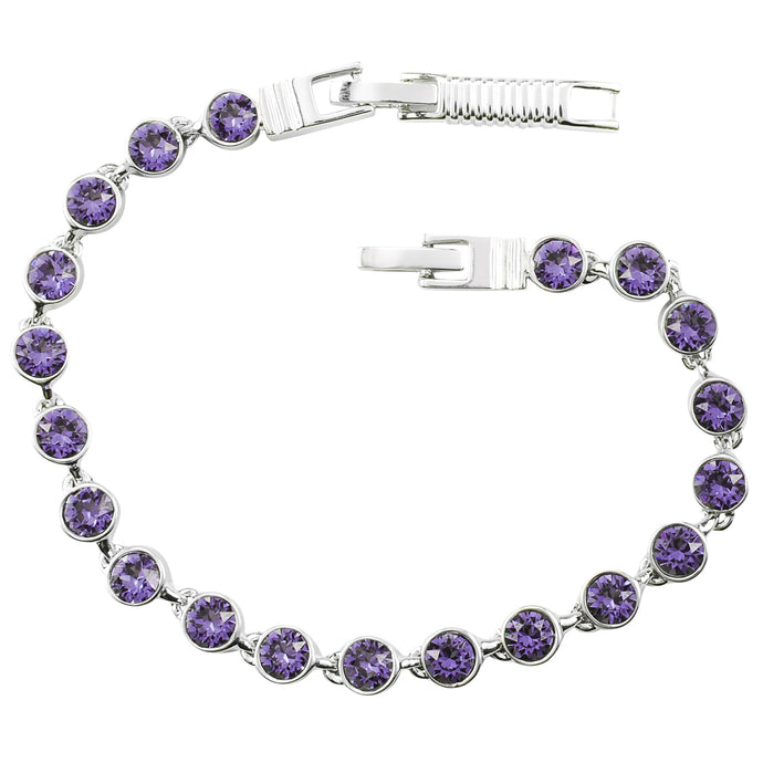 Tanzanite Crystal Tennis Bracelet (Small)