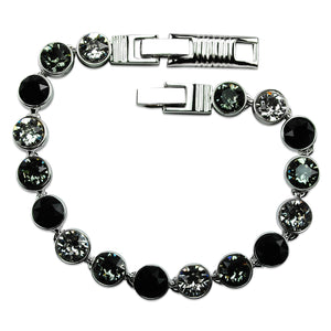 Multi-Black Crystal Tennis Bracelet