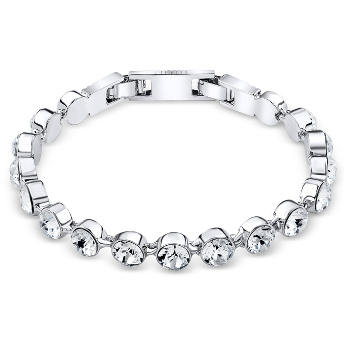 Clear Crystal Tennis Bracelet