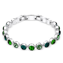 Load image into Gallery viewer, Multi-Green Crystal Tennis Bracelet