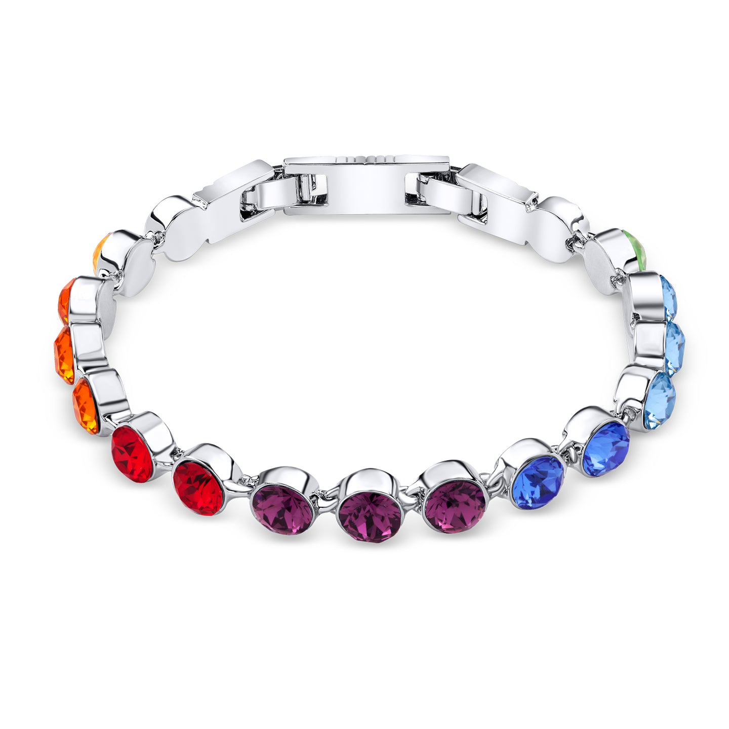 Rainbow Crystal Tennis Bracelet