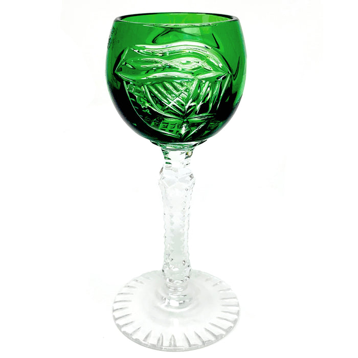 Green Harp Cordial Glass