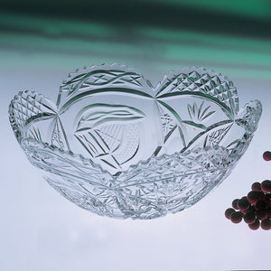 Mise Eire Scalloped Crystal Fruit Bowl