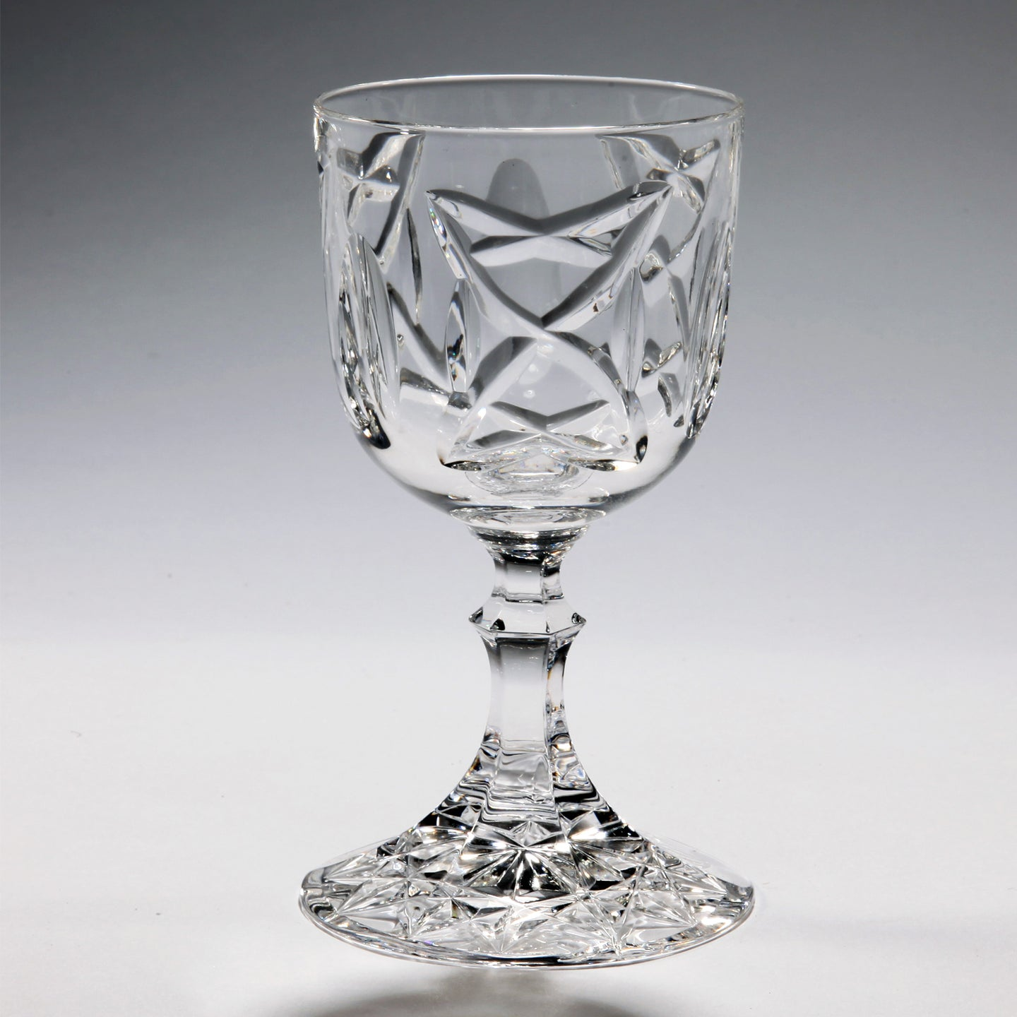 Old Celtic Crystal Sherry Glass