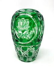 Load image into Gallery viewer, Green Claddagh Pear Shaped Vase