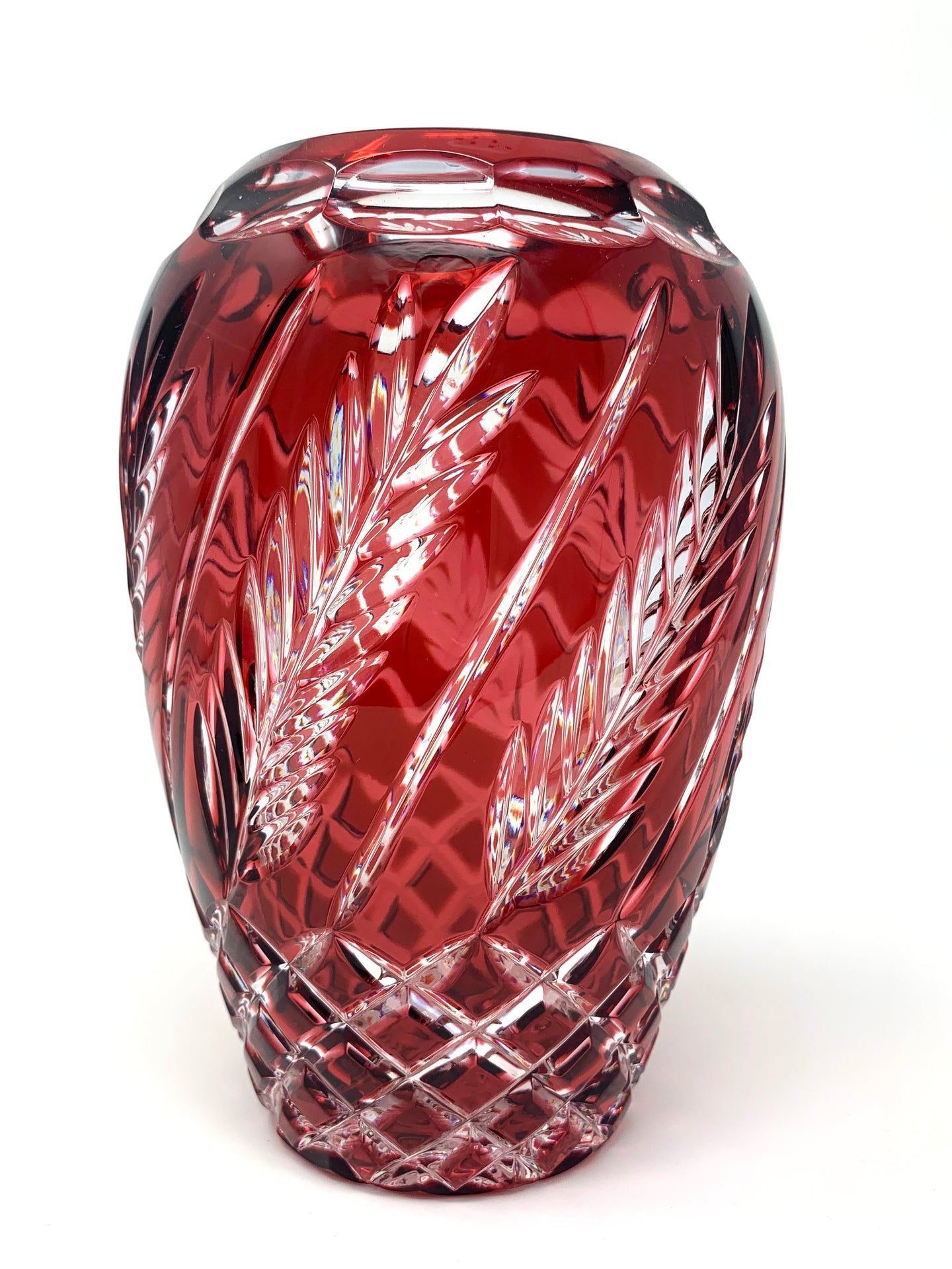 Red Wheat Pear-shaped Vase